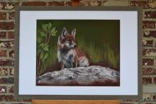 kunstwerk vos door Claire De Paepe veiling